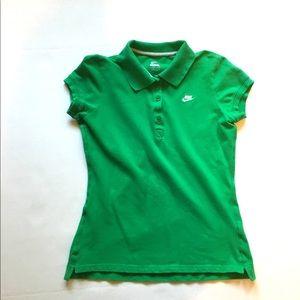 4/$25 Nike Green Short Sleeve Polo